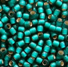 Toho 8/0 Seed Beads Silver Lined Frosted Teal 27BDF - 10 grams